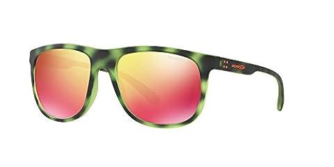 Arnette AN4235 2465/6Q - Crooked Grind, Matte Green Havana/Red Multilayer, 56mm, Sunglasses