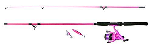 Fladen Angeln–'My Deadly '1,95m 2Stück Rod & Reel Combo kommt mit Line, Spinner und Löffel (grün oder pink)–Ideal...