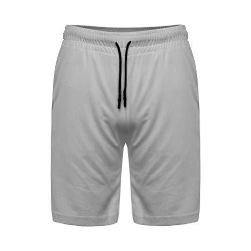 1 Kurze Hosen Laufsport-Shorts mit Eingebaut Taschen,Männer Schnell Trocknend SweatshortsSommer Bermuda M-3XL ()