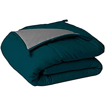 Sleepyhead Microfiber Reversible Comforter 220 GSM - Single Size, Deep Teal & Ash Grey