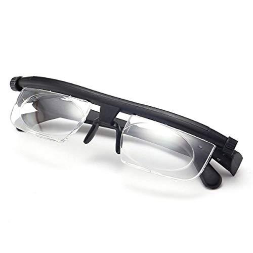 ZUZEN Fokus Einstellbare Linse Lesung Myopie Brille Männer Frauen Variable Vision Stärke Brille Korrektur Fernglas Schwarz