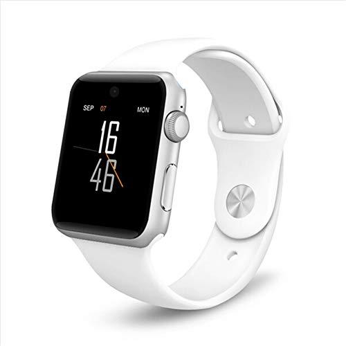 ZLOPV Fitness Armband Smartwatch für Apple iPhone7 8 X Armbanduhr für Männer, Frauen, mitSIM-Karten-Slot + gratis kabellosem Headset, Weiß