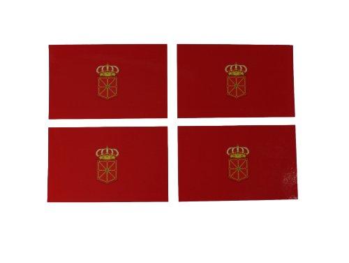 Yantec 4er Pack Autoaufkleber Spanien - Navarra
