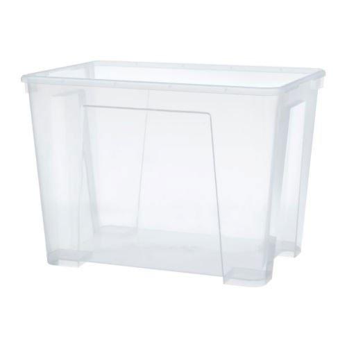 IKEA SAMLA Box 22 Liter; transparent (Box Samla)