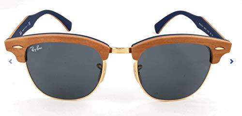 Ray-Ban Unisex Sonnenbrille Rb 3016m, Mehrfarbig (Gestell: Braun, Gläser: Blau/Grau Klassisch 1180R5), Medium (Herstellergröße: 51)