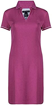 Tommy Hilfiger Pink Cotton Polo T-Shirt Women Dress