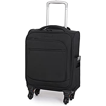 IT Luggage Small Black Cabin 48cm 4 Wheel Suitcase with Detachable ...