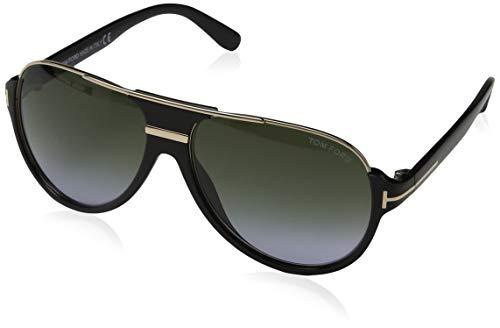 Tom Ford Herren FT0334 01P 59 Sonnenbrille, Schwarz (Nero Lucido/Verde Grad),