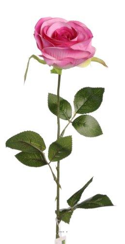 Artif-deco - Rose nina artificielle rose chaud h 70 cm tete superbe 9 cm 3 feuilles superbes - choisissez votre coloris: rose chaud