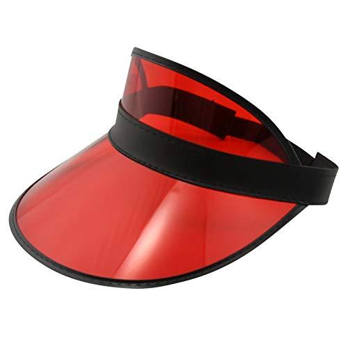 Freak Scene Retro Schildkappe - Sun Visor Cap - 80s Poker Visier Mütze - Farbe: rot-schwarz
