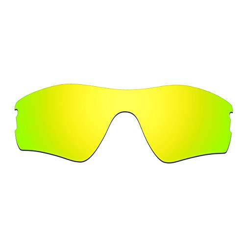 HKUCO Ersatz-Brillengläser für Oakley Radar Pitch Sonnenbrille 24 Karat Gold Polarisiert