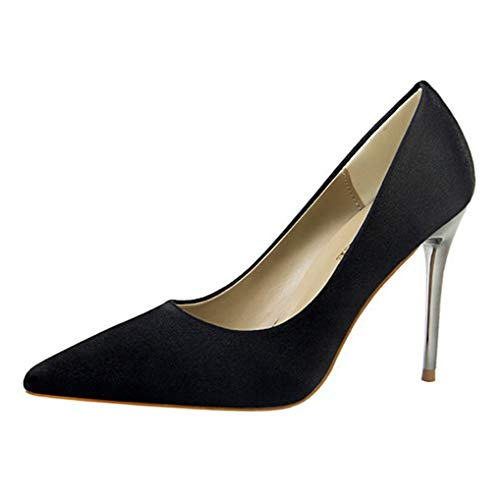 Damenmode High Heel Spitzschuh Kleid Pumps Pfennigabsatz Sandale Slip on Pumps (Weiblich Rost Kostüm)