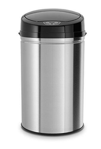 ECHTWERK EW-AE-0210 Papelera de acero inoxidable con apertura automática mediante el sensor...