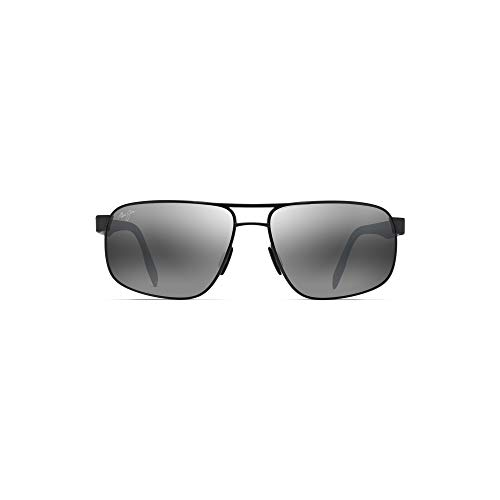 Maui Jim 776-02S Dark Gunmetal Dunkles Gunmetal Whitehaven Square Pilot Sunglasses Polarised Lens Category 3 Size 63mm