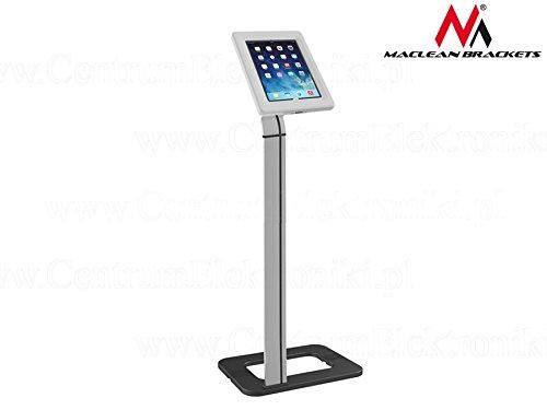Maclean MC-645 Universal Bodenständer für Tablet  (9,7-10,1 Zoll)  Halter mit Verriegelung Tablet Ständer