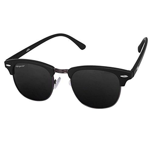 Elegante Clubmaster Unisex Sunglasses(Clbgunblk|2|Black)
