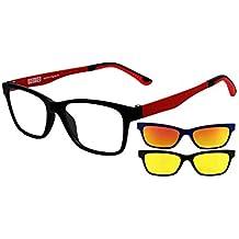 cd0f7d3a22 rainbow safety MagClip Sonnenbrille für Brillenträger Brillen Rahmen mit Polarisierte  Magnetische Clip-Aufsatz RMCG