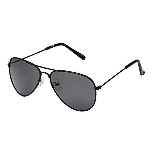 Ultra Schwarz Rahmen mit Schwarz Linsen Kinder Pilot Sonnenbrille Jungen Mädchen Klassische Metall UV400 Schutz Brillen Schatten Unisex