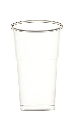 idea-station Gobelet en plastique jetable 250 ou 500 ml, 50 pièces, transparent, empilable peut aussi être utilisé comme lunettes dans l