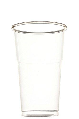 off-Becher einweg 250 oder 500 ml, 50 Stück, transparent, stapelbar auch als Wasser-Gläser, Whiskey-Gläser, Cocktail-Gläser einsetzbar, Party-Becher, Plastik-Becher, Einweg-Becher, Größe:0.25 Liter (50 Stück) (Einweg-gläser)