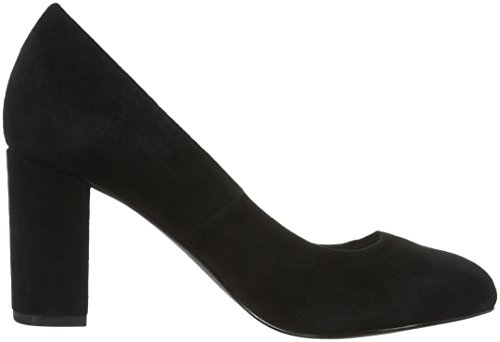 Bianco Damen Suede Pump 24-48624 Pumps Schwarz (BLACK/10)