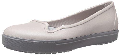crocs Damen Citilaneflatw Clogs, Schwarz Grau (Platinum)