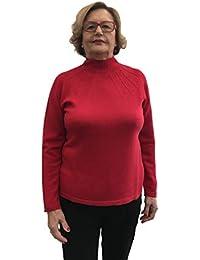 Carla Ferroni Maglia Dolcevita Rosso Donna 100% Lana Made in Italy Art.  3883 - 21942e8818bd
