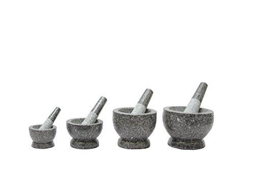 1PLUS Granit Mörser mit Stößel, in verschiedenen Größen (16 x 13 cm) - 3