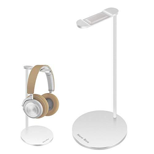 Kopfhörer Ständer New Bee Universal Aluminium Kopfhörer Halter Abnehmbare Headset Halterung für und Alle Gaming Bluetooth Kopfhörer - Silber