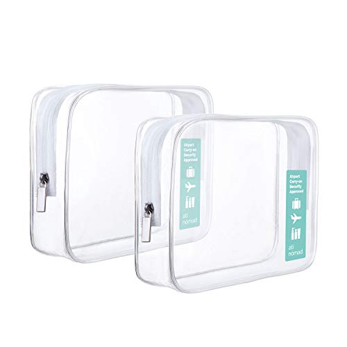 Ati Nomad, Trousse de Toilette Transparent Transparent Lot de 2