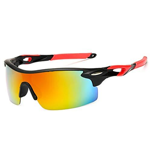 HUWAIYUNDONG Sonnenbrillen,Retro Sport Polarized Sunglasses Goggles Windproof Sunglasses for Men Women Fishing Riding