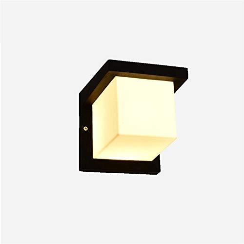 Wandlampe LED Wandleuchte Innen/Außen Modern Wandleuchtenl Mit Einstellbar Außenleuchten, für Badlampe Wohnzimmer Schlafzimmer Treppenhaus Flur [Energieklasse A++]/Schwarz_Warmes Licht