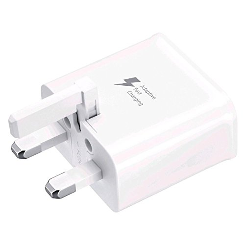 Samsung 3Pin Wonderful Fast Charger For Galaxy S6/Note 4–chalky, [UK Whiz]