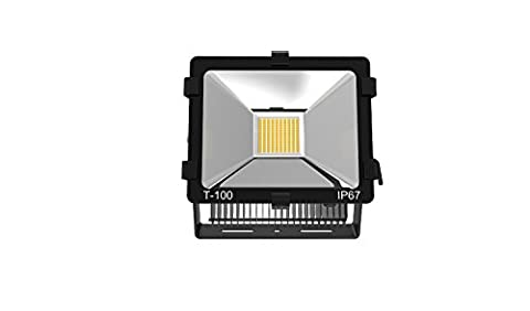 4-Pack 100W 90-265VAC Daylight White LED Flood Scurity Light 9000-11000Lm IP65 Waterproof Protection 120 Degree Beam Angle for Outdoor AL-J-TGL100W