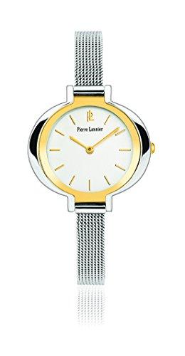 Pierre Lannier 002F648-End-Week línea pura-Reloj para mujer cuarzo, analógico, correa de acero, color plateado