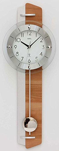 AMS f5271Funk–Reloj de péndulo, Madera,, 80x 35x 20cm