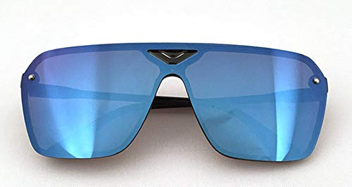 HUWAIYUNDONG Sonnenbrillen,Male Driving Sports Dazzling Sunglasses Men Design Trendy Retro Sun Glasses Blue