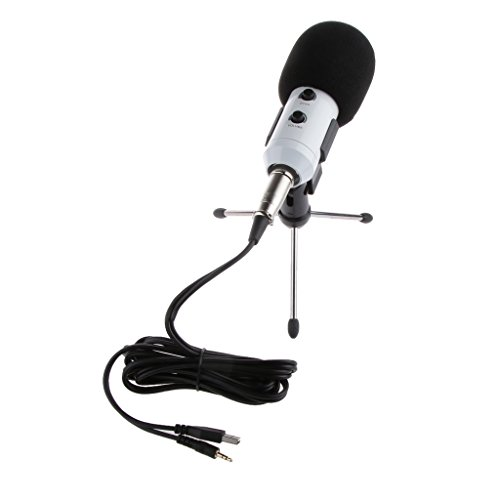 Generic Professional USB Studio Condenser Recording Microphone Mic w Desktop Tripod For PC Vocals Radio Broadcasting Musical Instruments White  available at amazon for Rs.1830
