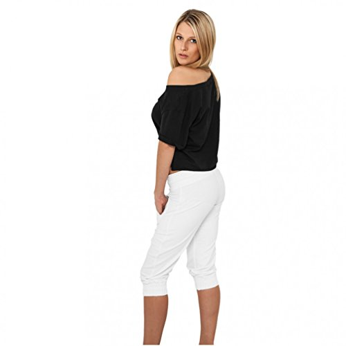 Ladies French Terry Capri White