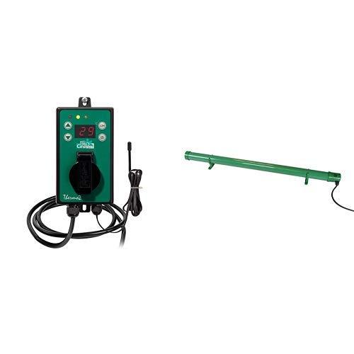 Bio Green Digital-Thermostat, grün, mit Sommer/Winter funktion IP X4 spritzwassergeschützt & Green Elektro-Frostwächter - ohne Thermostat, grün, 135 Watt, steckerfertig