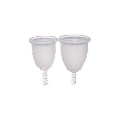 Fleurcup® Menstruationstassen, klein farblos. (PT)
