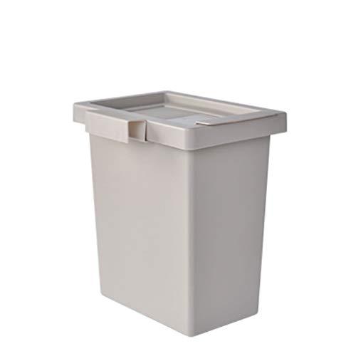 Xu Yuan Jia-Shop Secchi per la spazzatura Cucina Creativa a Parete Trash Can Living Room Storage Bucket Camera Storage Box (Color : Gray)