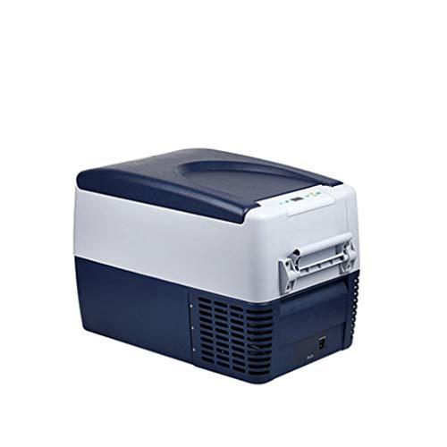 35 Flasche Wein Kühler (Xinjin Auto Kühlschrank Kühlbox Gefriertemperatur -12 ° C bis 10 ° C Autokompressor Kühlschrank 35L intelligente Digitalanzeige Temperaturregelung Mini-Kühlschrank mit LED-Leuchten)