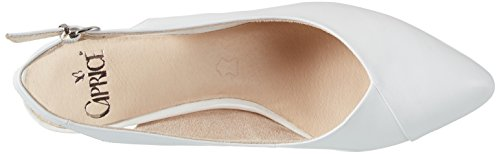 Caprice 29699, Sandales Bout Ouvert Femme Blanc (White)