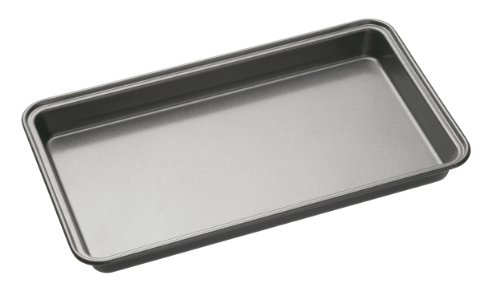 KitchenCraft KCMCHB32 Antihaft-Backform/Brownie-Blech, Stahl, grau, 34 x 20 x 4 cm