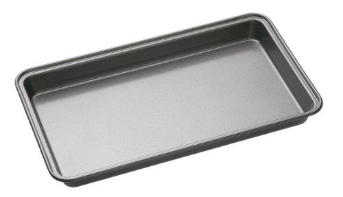 Master Class KitchenCraft KCMCHB32 Antihaft-Backform/Brownie-Blech, Stahl, grau, 34 x 20 x 4 cm