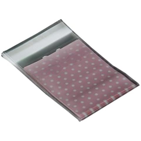 50 x Bolsa Puntos Lazo Plástico 12.5x8cm Rosa para Regalo Caramelo Pastel