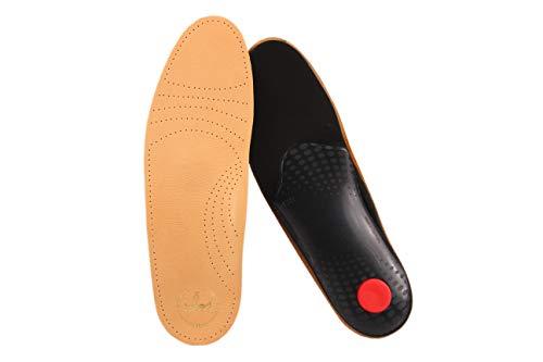 biped Premium Soft Fußbett extra weich - pflanzlich gegerbtes Leder und Aktivkohle - mit Pelotte - Mittelfußstütze - Fersenpolster z1719(43)