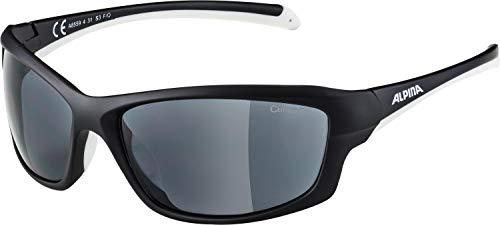 Alpina Sonnenbrille Amition DYFER Sportbrille, black matt-white, One Size