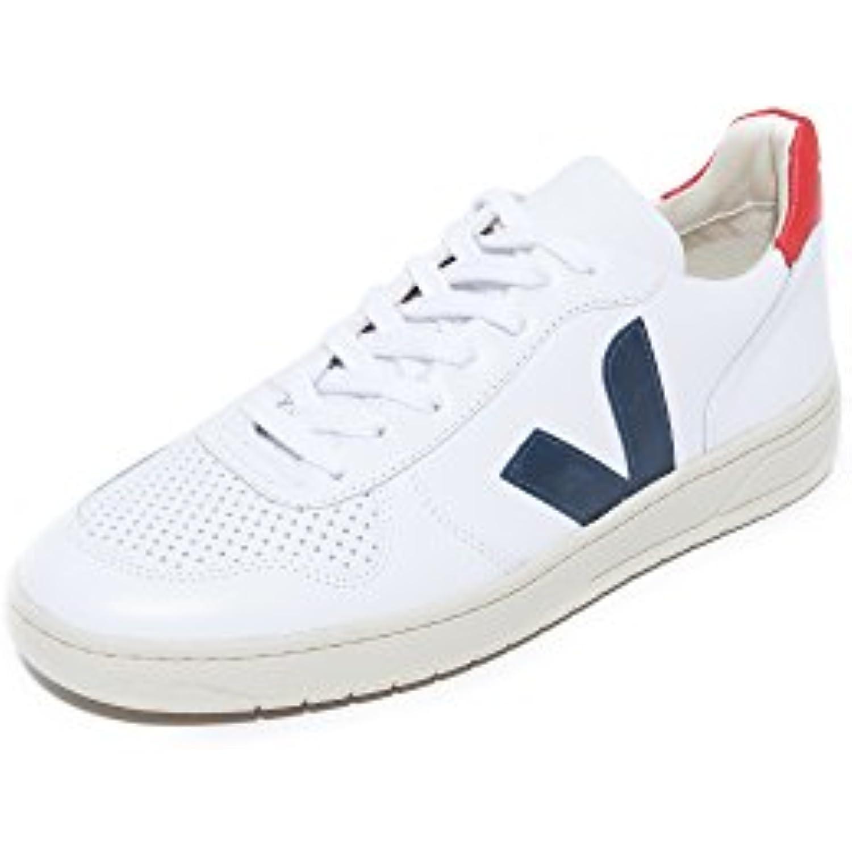 VEJA - Baskets basses - Homme - Sneakers V10 Marine Cuir Blanc Contrase Bleu Marine V10 pour homme - B01JBWS2ZC - 68c54c
